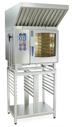 Комплект: пароконвектомат АПК-6-1/1-2 + зонт вентиляционный ЗВН-900ПА + подставка под пароконвектомат ПДП-2/960